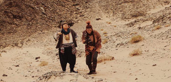 陳浩民(右)、林子聰到內蒙古拍攝「齊天大聖-火焰山」。圖/艾迪昇提供