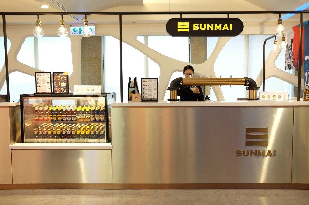 SUNMAI金色三麥的機場酒吧。記者黃仕揚/攝影