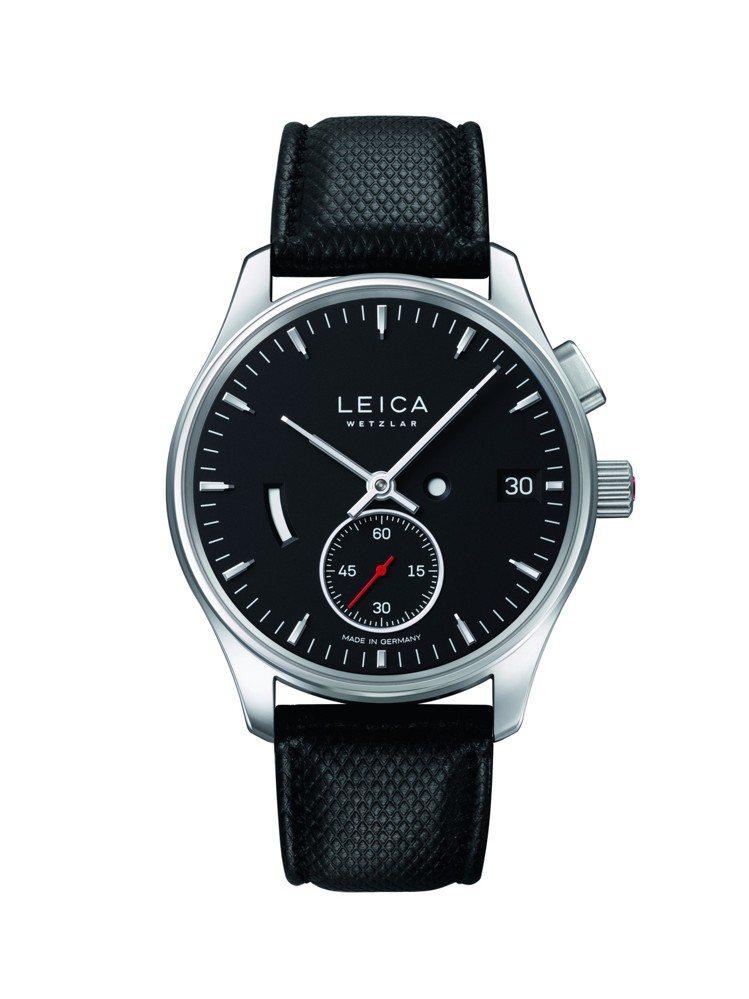 Leica L1腕表,搭配自製手上鍊機芯,限量400只。圖/Leica提供