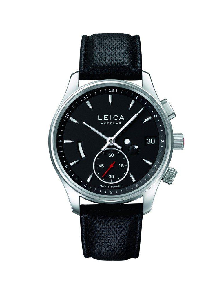 Leica L2腕表,搭配自製手上鍊機芯,具兩地時區功能,限量400只。圖/Le...