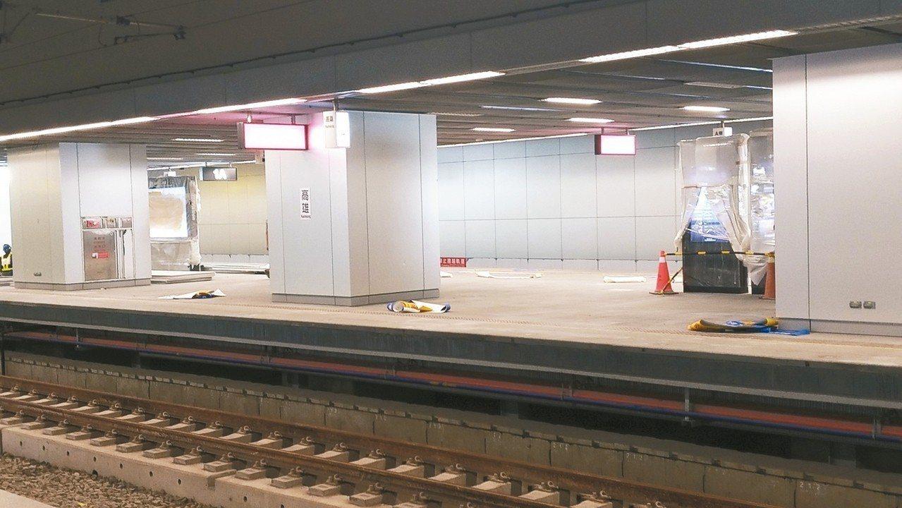 高雄鐵路地下化需延至9、10月才能通車;配合鐵路地下化的高捷新高雄車站可能比台鐵...