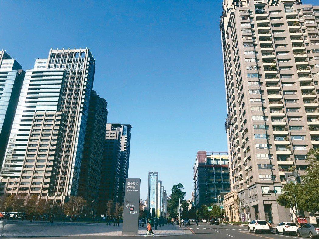 新竹、台中民眾房市看法最樂觀,認為房價持平盤整以及看漲比重都達68%。圖為台中市...