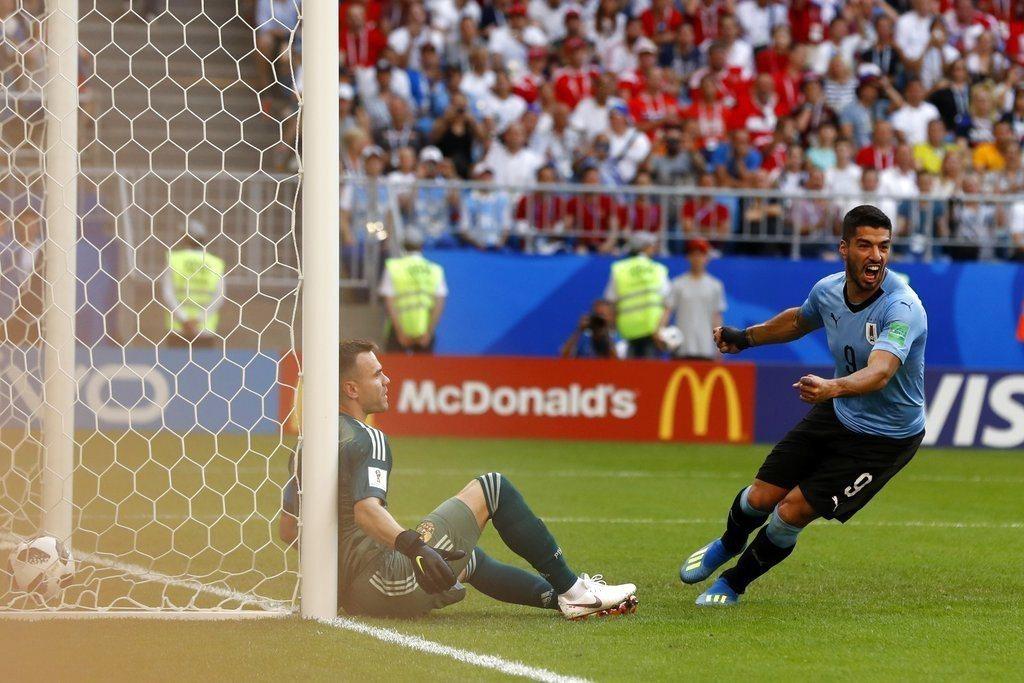 烏拉圭王牌蘇亞雷斯(Luis Suarez)。 美聯社