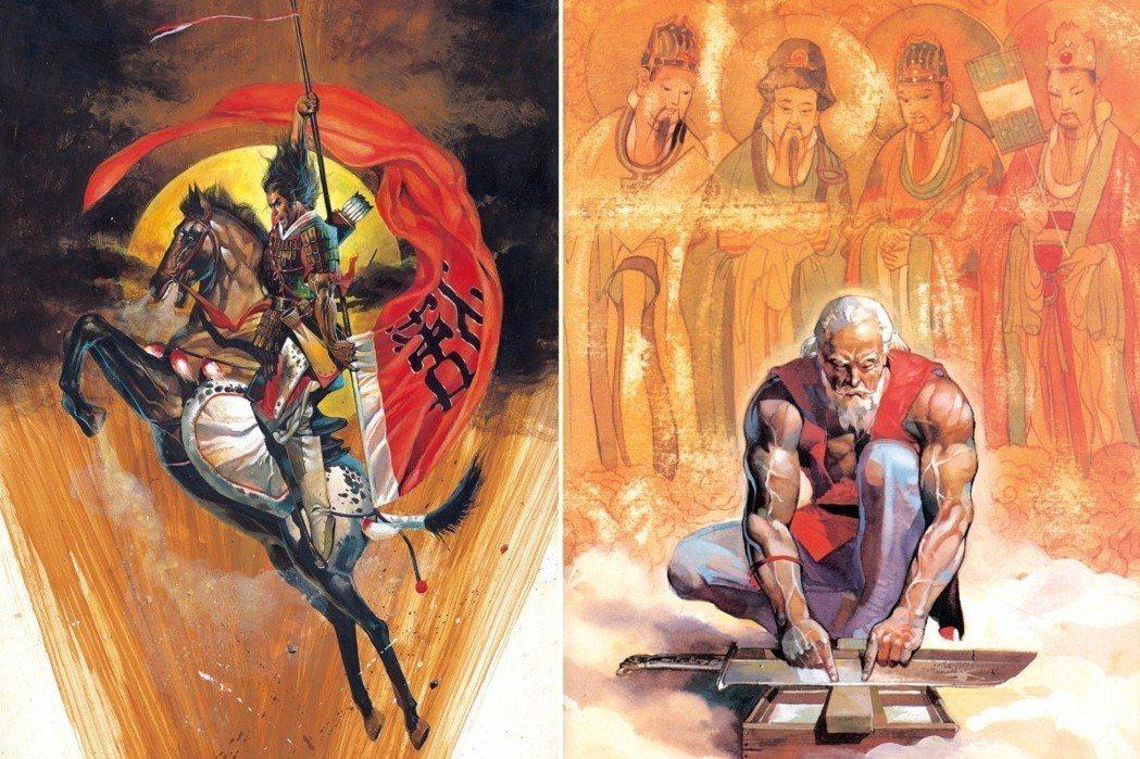 《刺客列傳》裡的豫讓(左)及收錄的短篇〈劊子手〉。 圖/大辣出版社提供