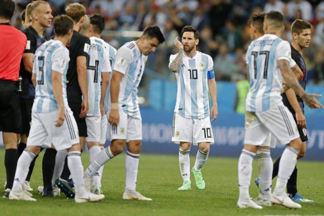 阿根廷隊。 美聯社