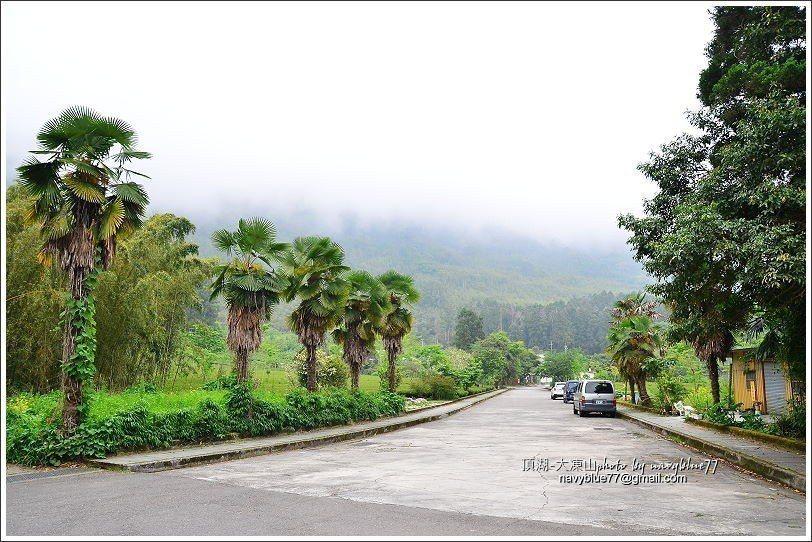 ↑頂湖的迎賓大道。