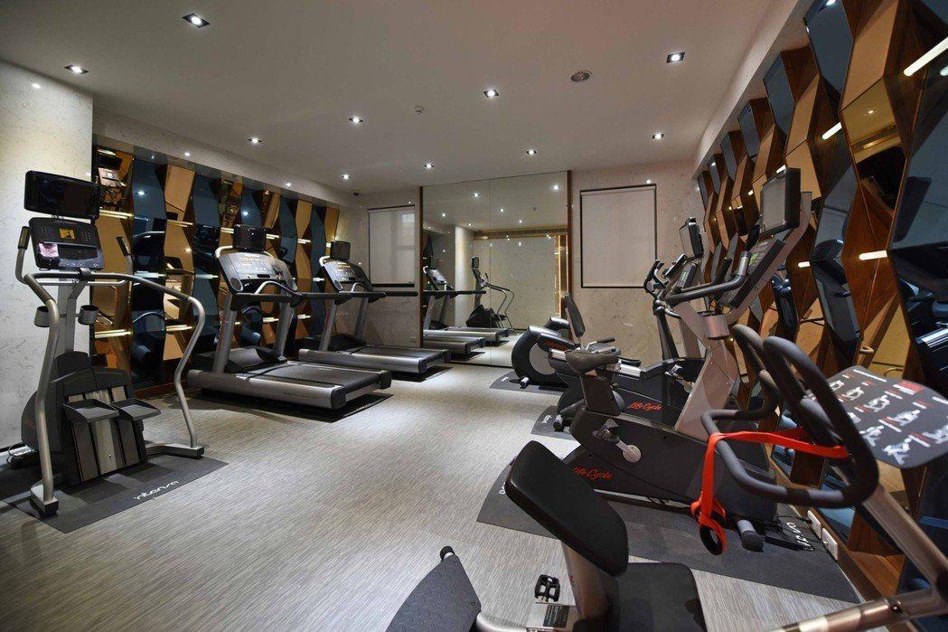 「慶旺DC」時尚健身房實景。 圖片提供/慶旺建設