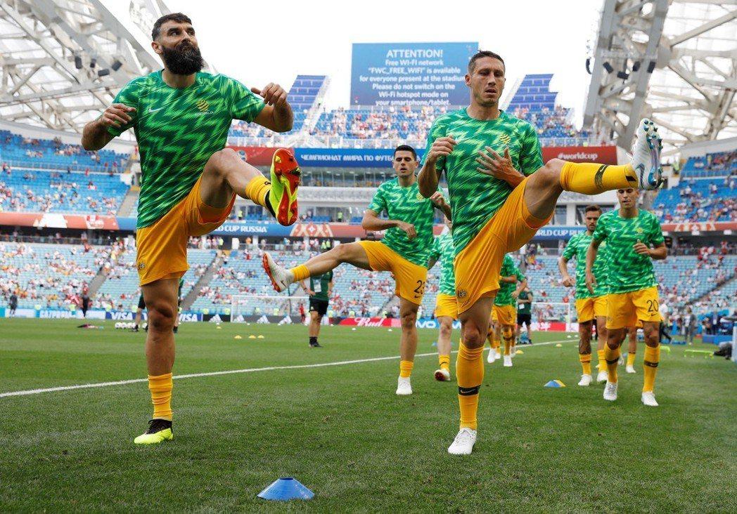 澳洲隊。 路透