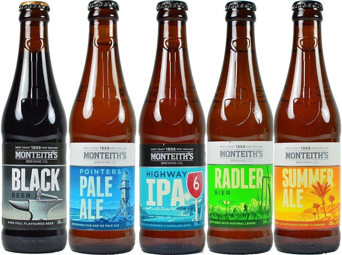 全家獨家導入龐帝氏瓶裝精釀啤酒、黑啤酒,售價150元。圖/全家便利商店提供