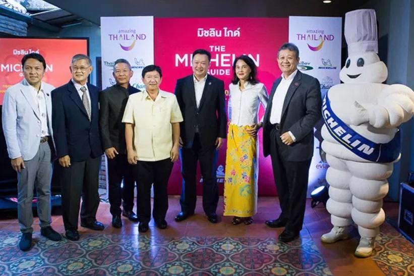 必比登在記者會中公布全新2019曼谷、普吉與攀牙米其林指南。圖/泰國觀光局提供