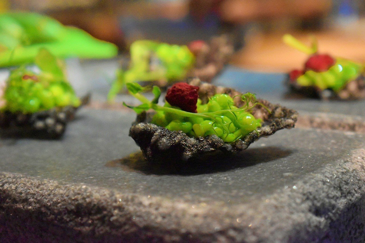 開胃小點甜豆覆盆子脆片。記者魏妤庭/攝影
