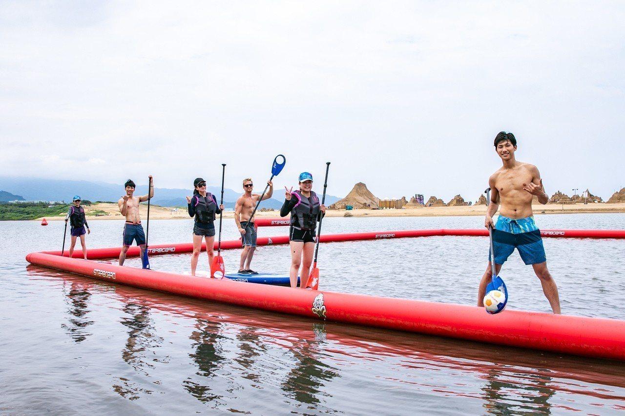 陳柏文與張瑋帆也參與了刺激的POLO水球運動。圖/聯合數位文創提供