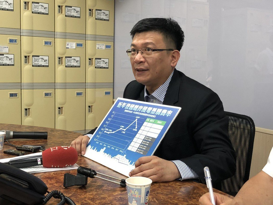 經濟部次長曾文生昨舉行記者會回應離岸風電躉購費率議題。圖/聯合報系資料照片