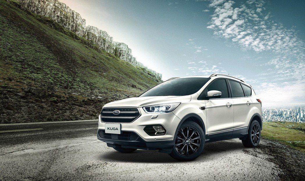 Ford Kuga再推出限量配備升級不加價的勁黑版,成為同級休旅車性價比之王。 Ford提供
