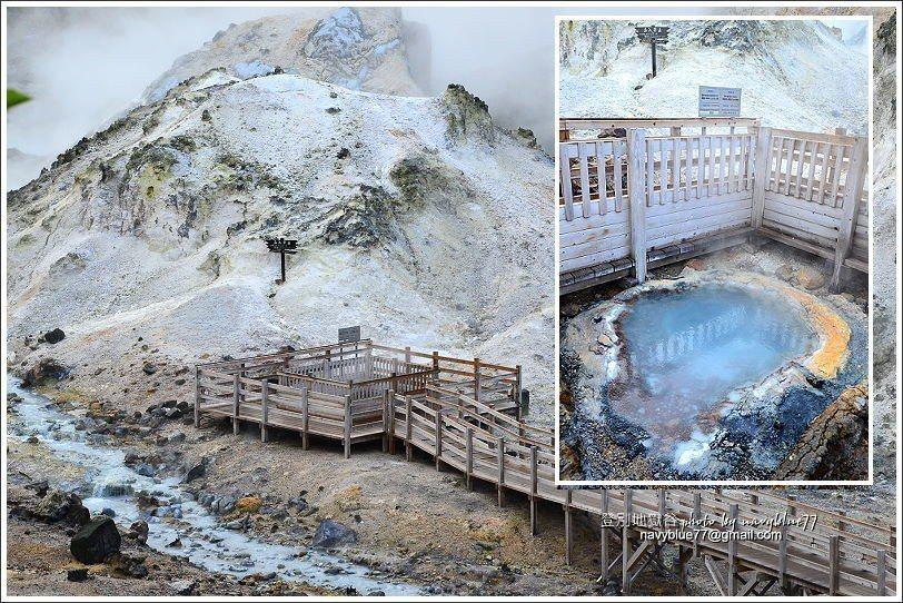 ↑6鐵泉池,是間歇泉,溫度高達80度,是地獄谷的心臟部位。'