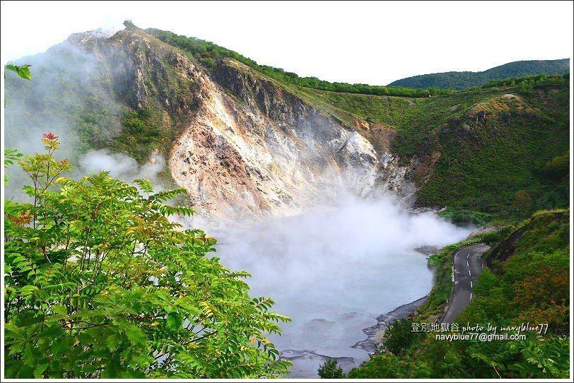 ↑10大湯沼展望台,可以下瞰大湯沼溫泉湖。
