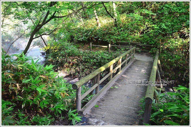 ↑由大湯沼走一小段公路,轉入大湯沼川探勝步道。