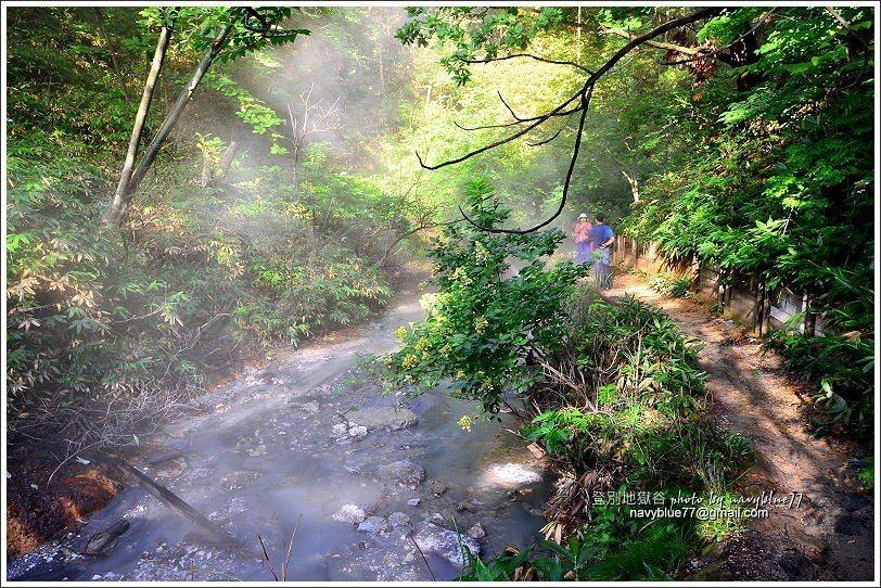 ↑大湯沼川因為是溫泉水,整條煙霧彌漫。
