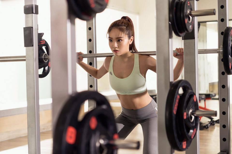陳芳語喜歡運動,維持苗條身形。圖/摘自陳芳語臉書