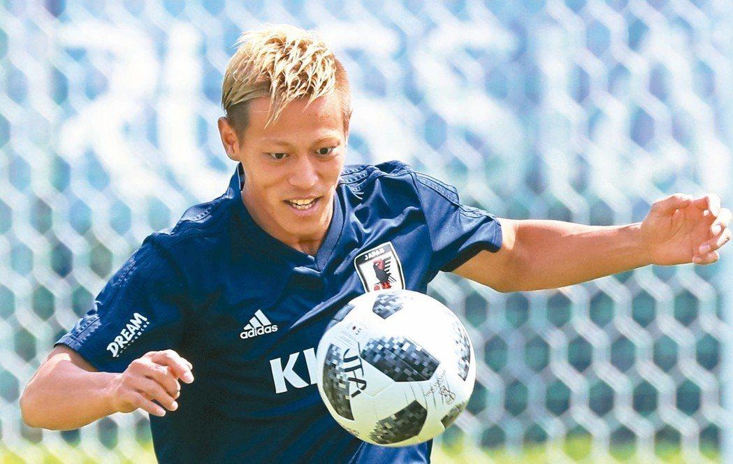 本田圭佑要率領日本隊重返榮耀。 美聯社