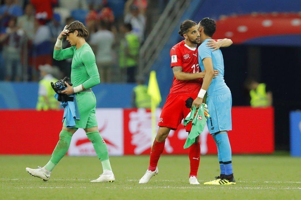 瑞士在小組賽最後一戰,以2:2與已遭淘汰的哥斯大黎加握手言和。 美聯社