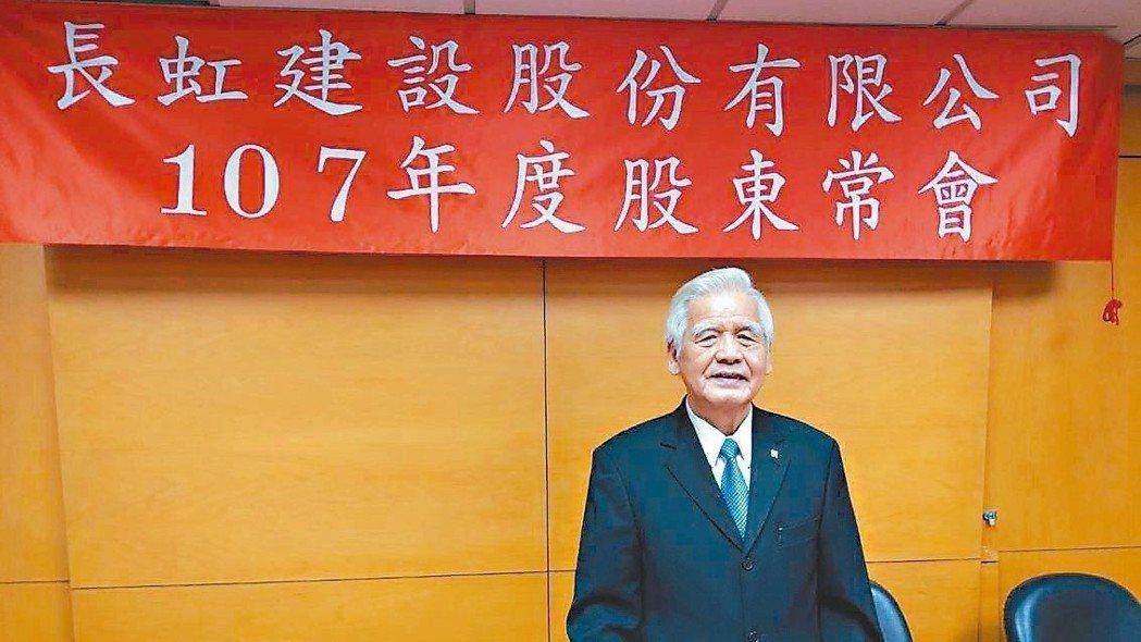 長虹建設董事長李文造。 記者陳美玲/攝影