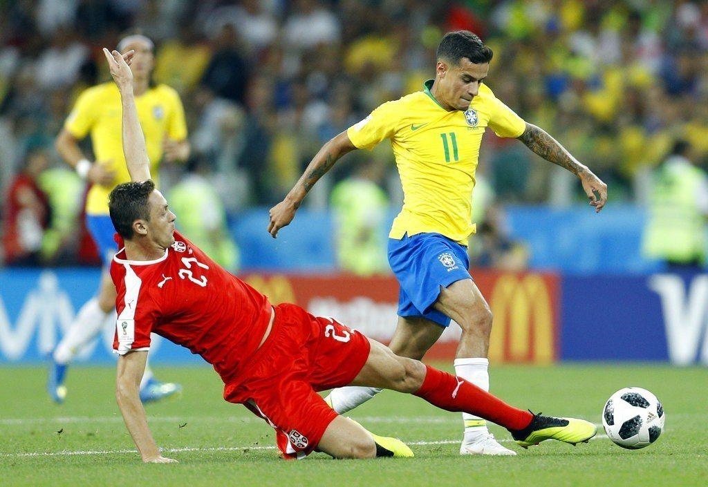 巴西中場庫蒂尼奧狀態絕佳,小組賽幾乎是靠他一己之力撐起巴西隊的進攻。 美聯社