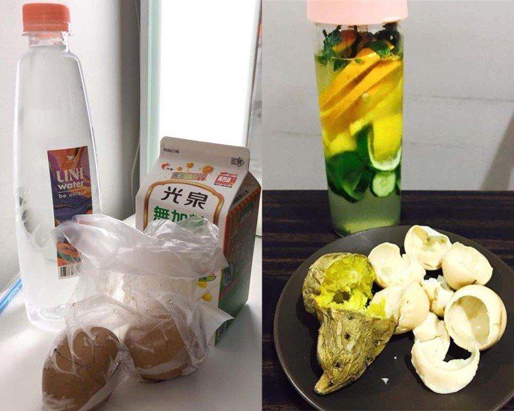 小禎曾上傳自己的排毒餐。圖/擷自facebook