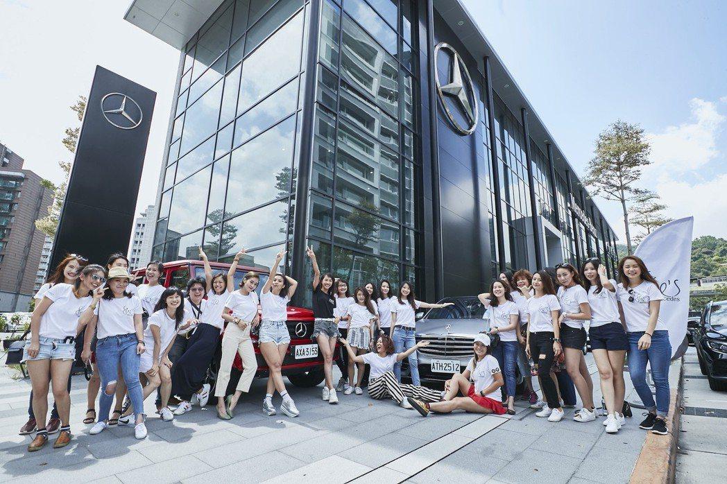 「She's Mercedes」在全球各地熱烈展開,在台舉辦Challenge Day 駕馭挑戰之旅,以女性視角出發,鼓勵自信生活、享受移動自由。 圖/台灣賓士提供
