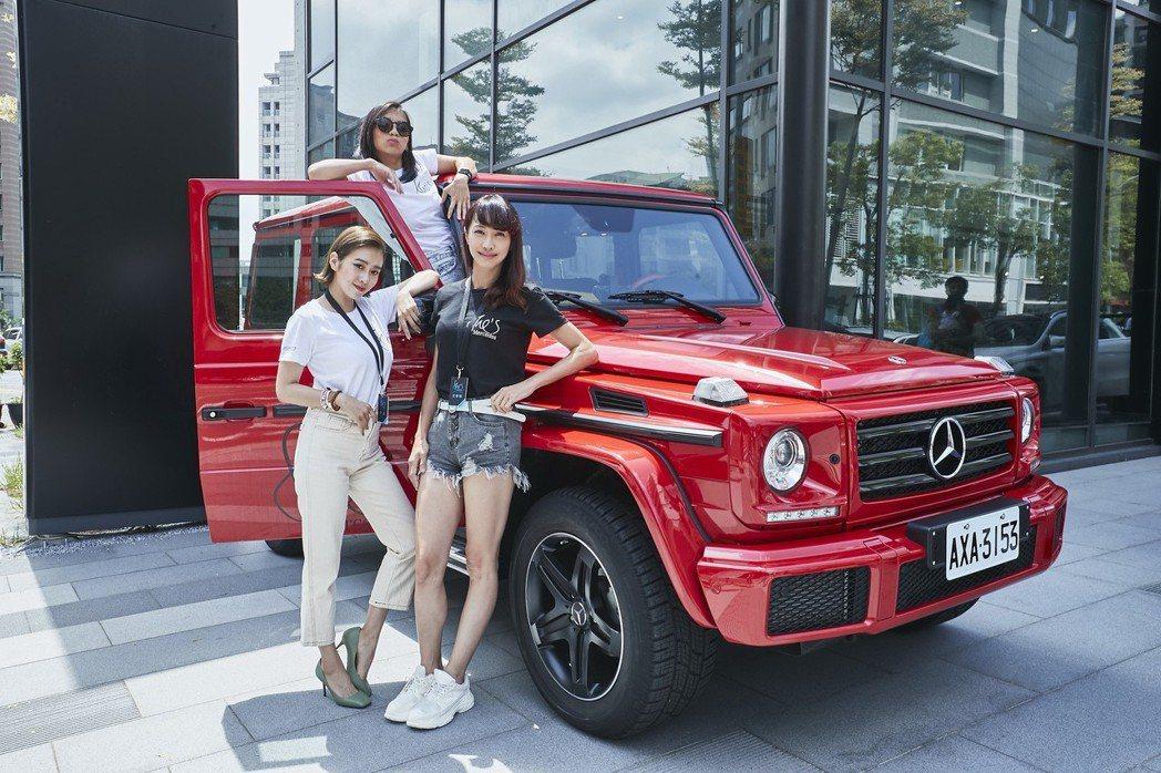 「台灣首席女DJ」DJ Cookie(圖上)、知名時尚部落客唐葳(圖左),以及台灣知名女賽車手沈慧蘭(圖右)出席She's Mercedes活動,並鼓舞更多女性勇敢追求夢想。 圖/台灣賓士提供