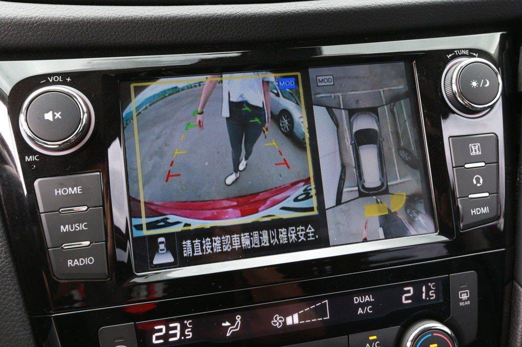 透過如RCTA後方車側警示系統、AVM環景影像等配備,建構滴水不漏的行車資訊情報網。 圖/Nissan提供