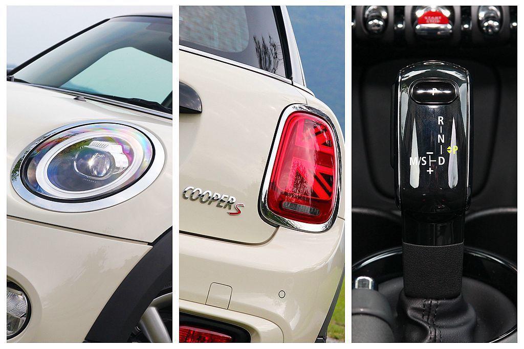 小改款Mini Hatch外觀變動其實不太顯著,如新式LED頭燈、英國國旗樣式L...