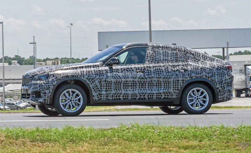 新世代BMW X6(G06)偽裝照。 摘自Autoevolution