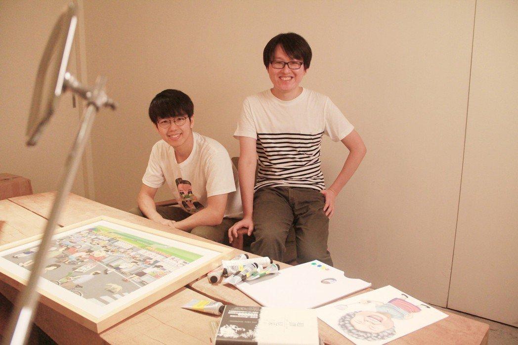二搞創意無限:弟弟良根(左)與哥哥郭漁。圖/文 聯合數位文創提供