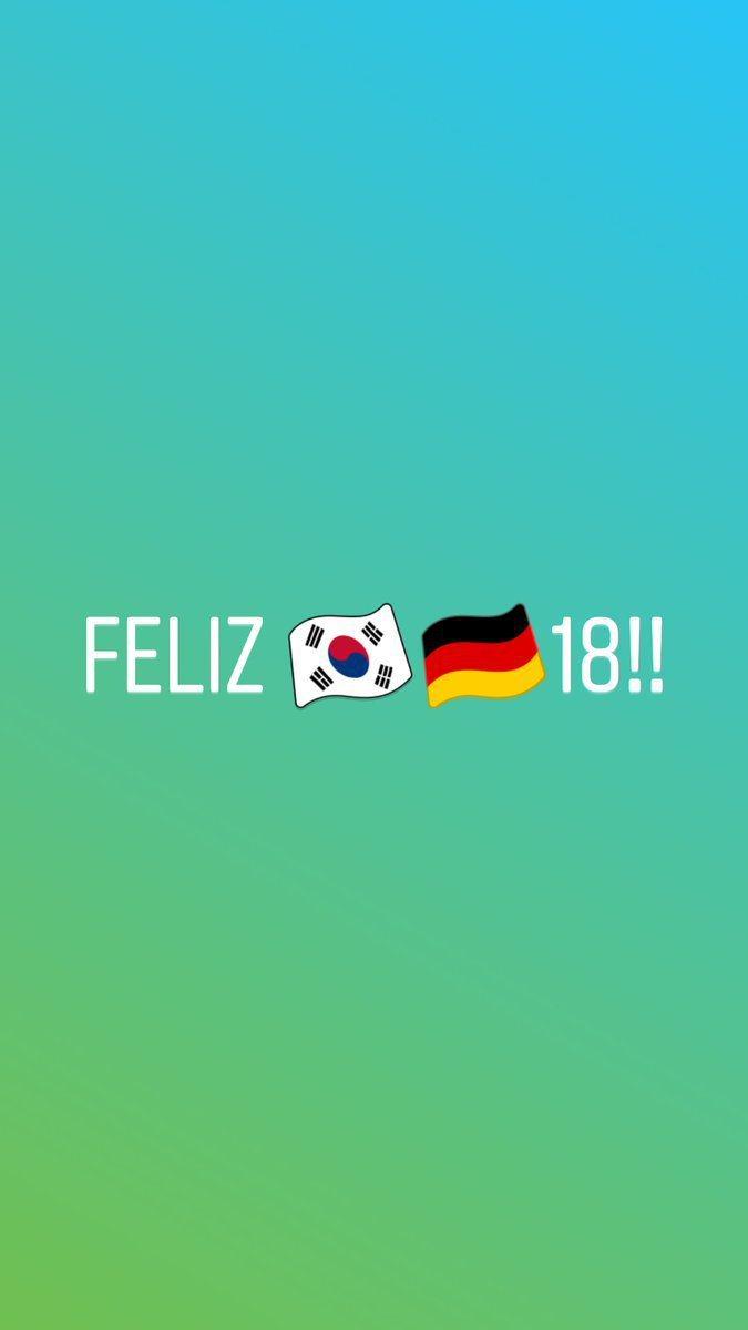 德國出局後,網友回覆克魯斯「2018年快樂」,這回「2」與「0」改由南韓和德國國...