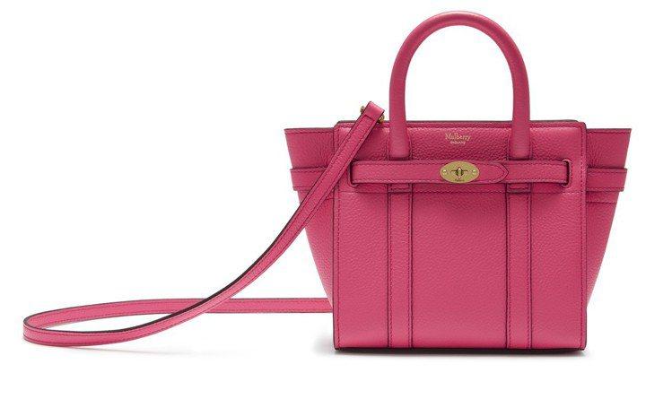 Micro Zipped Bayswater經典粉色款,售價33,600元。圖/...