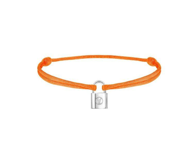 Silver Lockit Fluo手環螢光橘色,售價9000元。圖/LV提供