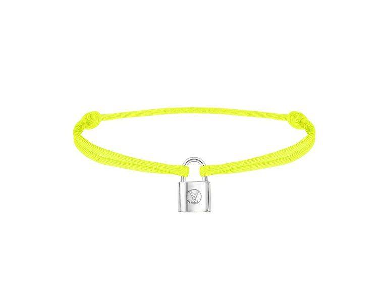Silver Lockit Fluo手環螢光黃色,售價9000元。圖/LV提供