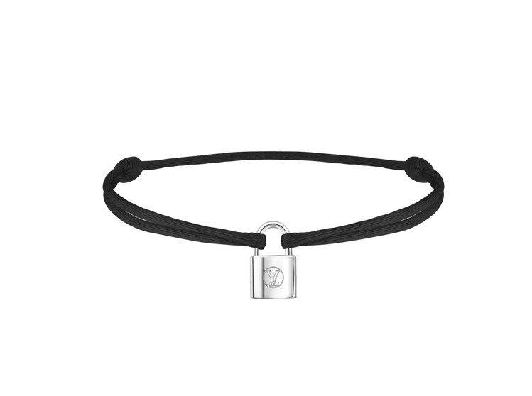 Silver Lockit Fluo手環黑色,售價台幣9000元。圖/LV提供