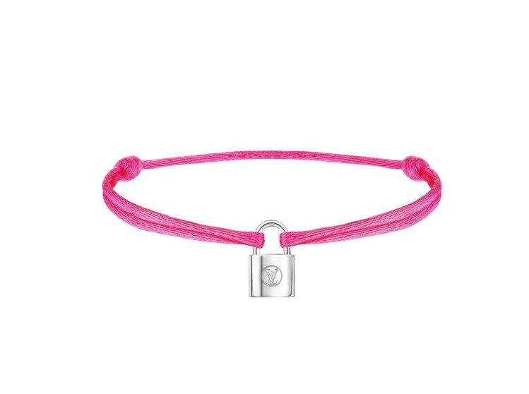 Silver Lockit Fluo手環螢光粉紅,售價9000元。圖/LV提供