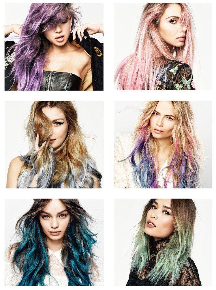 巴黎萊雅Colorista 1日變色噴霧全系列6色包括專為亞洲深色髮設計的打底專...