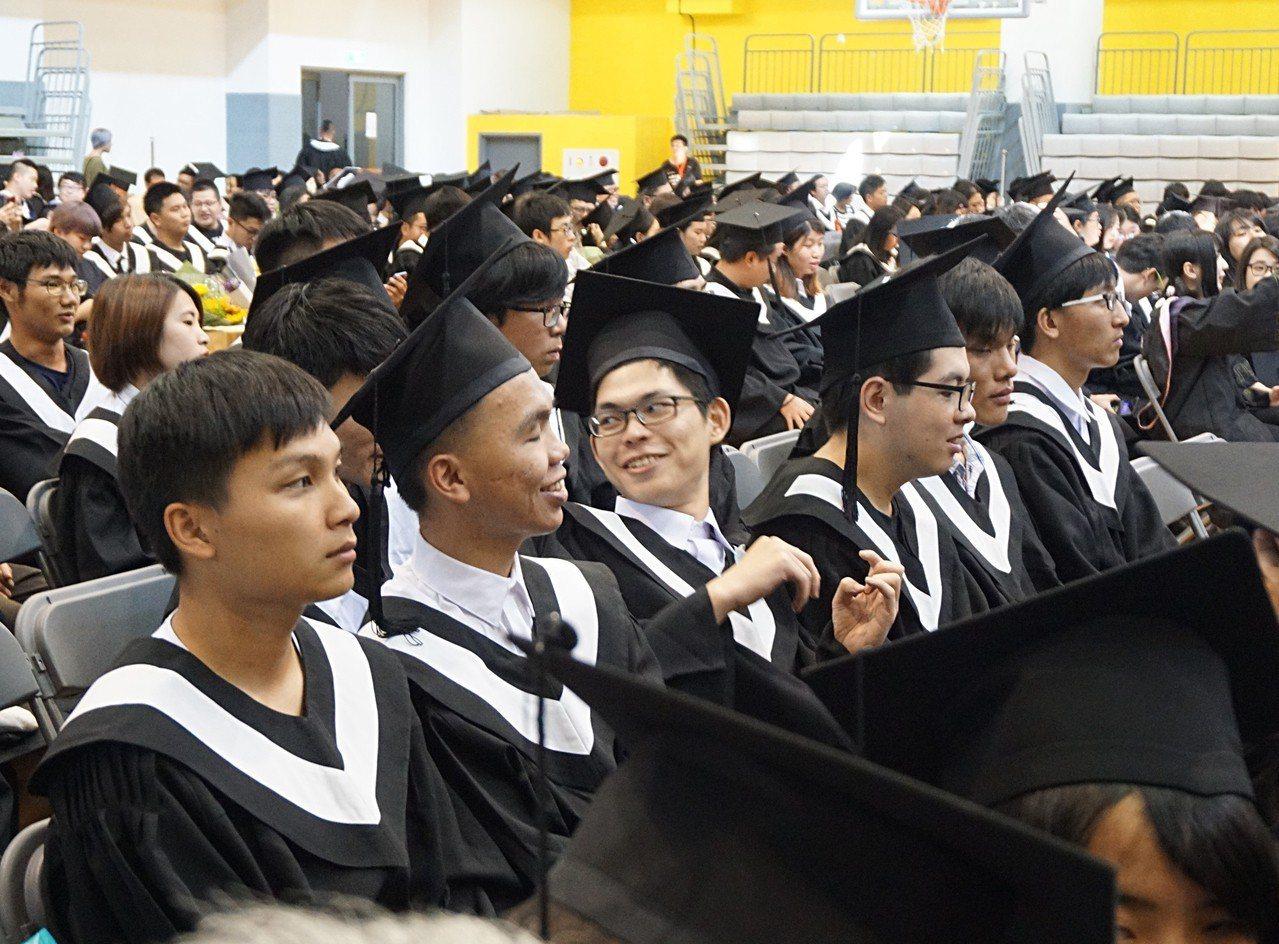 金門大學106學年度畢業典禮。 中央社