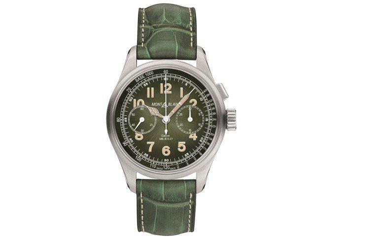 1858系列單按把計時腕表限量款,售價96萬8,500元。圖/萬寶龍提供