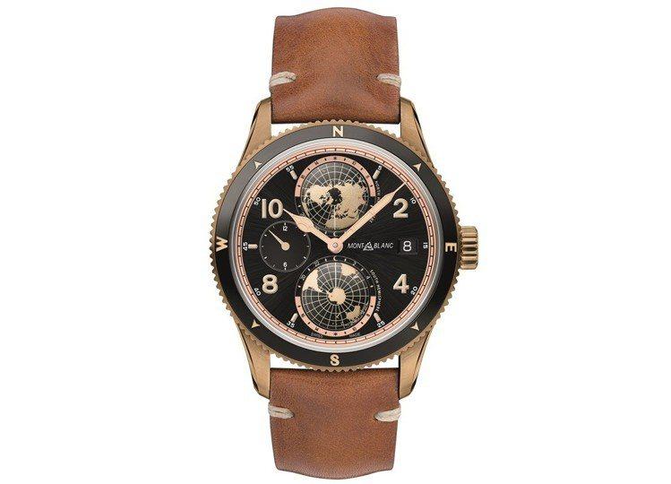 莊凱勛款萬寶龍1858系列世界時間限量Geosphere腕表,售價20萬3,70...