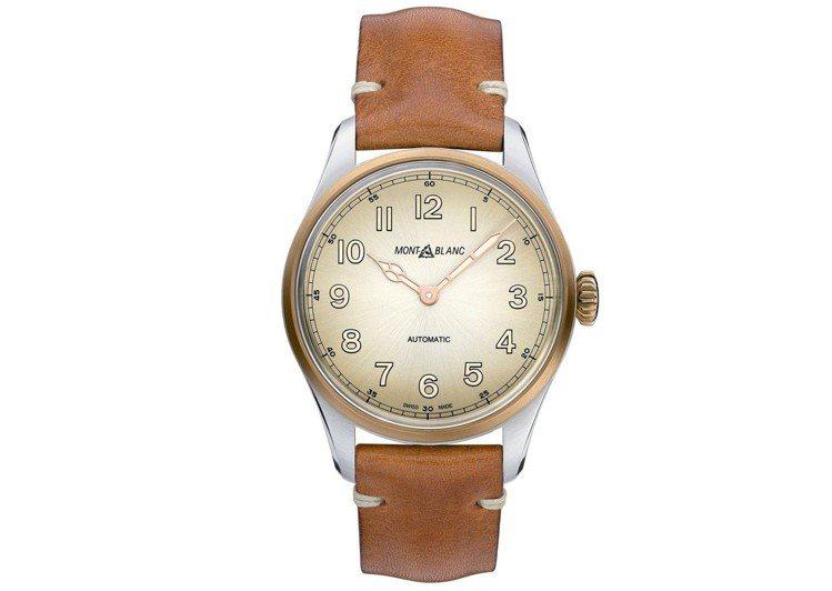 1858系列自動腕表,售價86,100元。圖/萬寶龍提供