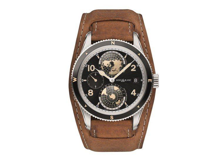 1858系列世界時間Geosphere腕表,售價17萬9,500元。圖/萬寶龍提...