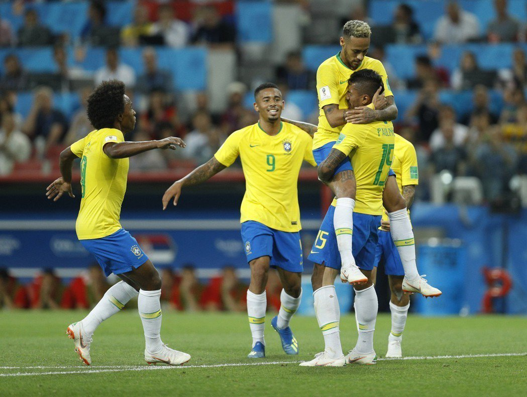 16強決賽,看好奪冠的巴西隊位於死亡半區。 路透