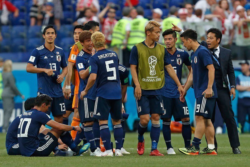 日本隊運用策略消耗最後10分鐘,雖然成功晉級16強,但現場不少球迷認為他們「欠缺...