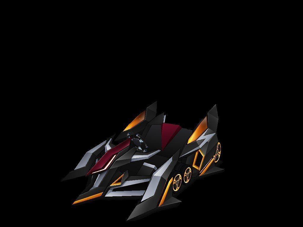傳說車款「刀鋒9」外型以俐落尖銳線條搭配金色輪框,侵略性十足,直線加速性能將為玩...