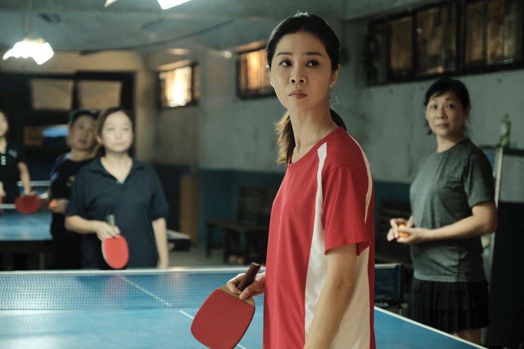 謝盈萱重新訓練桌球,肢體障礙最嚴重。圖/前景娛樂提供